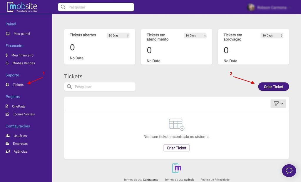 suporte técnico para sites